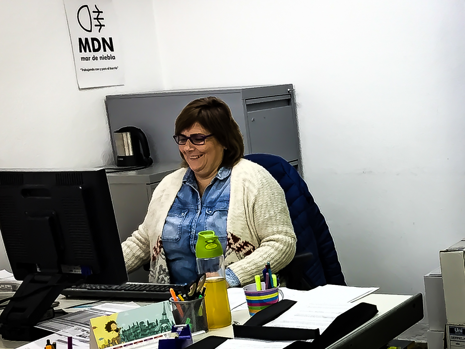 Compañera trabajando en nuestra sede
